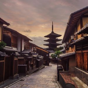 Kyoto Old Streets as dusk