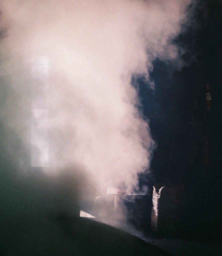 A steamy room