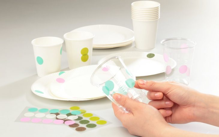 masking dots decorating cups