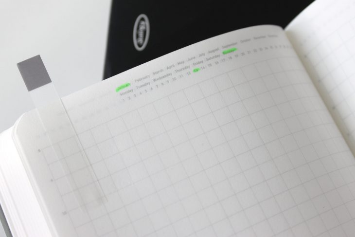 Stalogy Notebooks Grid and Dates