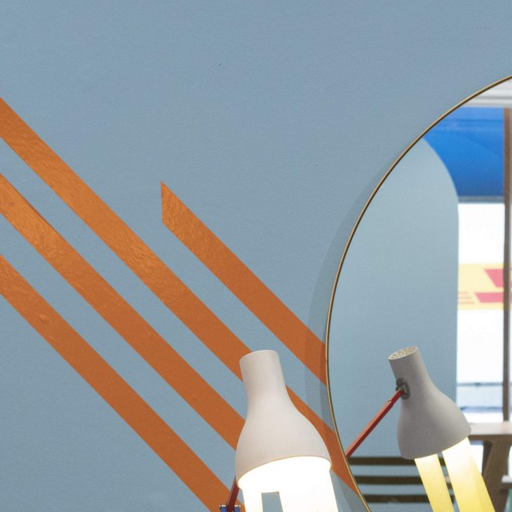 orange washi tape for decoration - HARU stuck on design -
