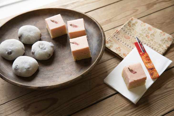 Japanese sweets for a tea ceremony