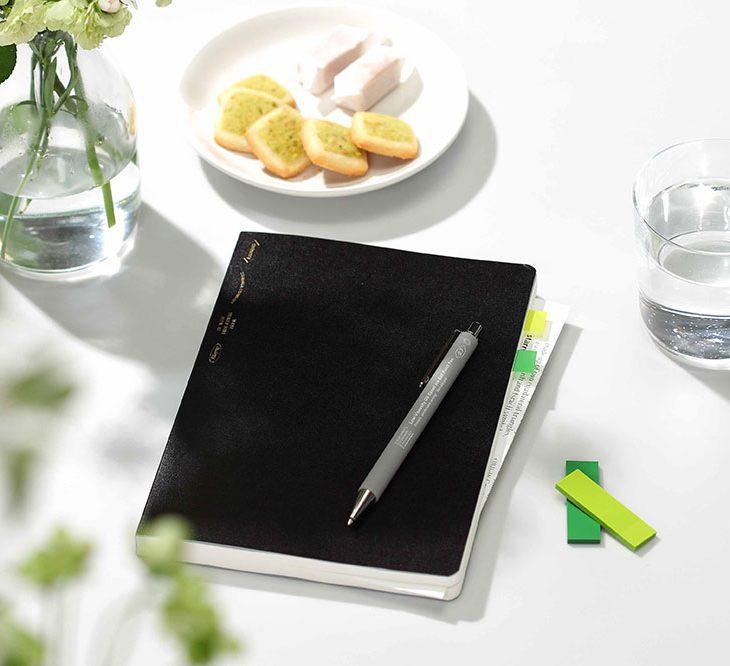 365 Dya Stalogy Notebook Black A5 Front Image