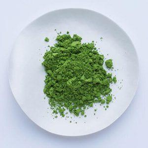 A plate of shoin no mukashi matcha powder