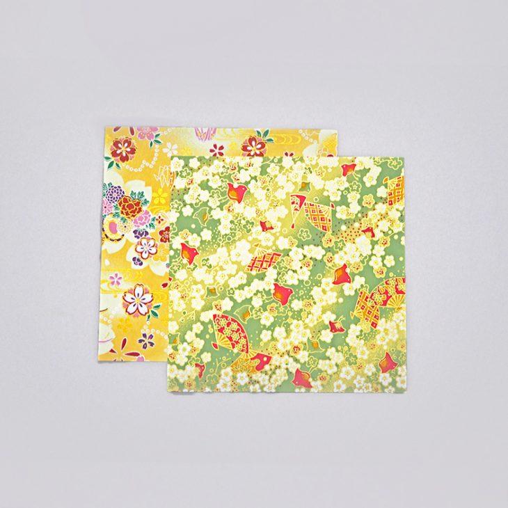 Yuzen paper Plover flower
