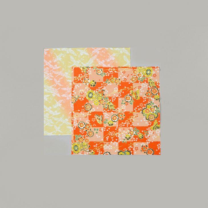 Yuzen paper Crane cherry-blossom