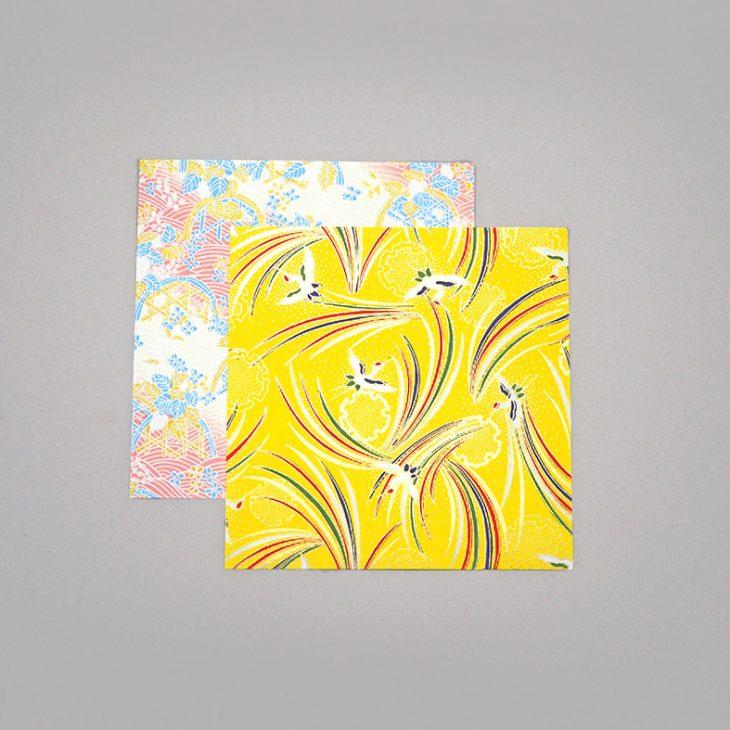 Yuzen paper Crane ripples