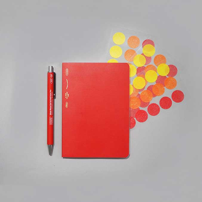 Stalogy Red A6 notebook