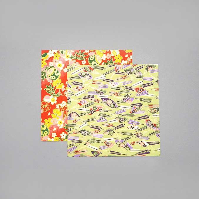 Yuzen paper Cherry-blossom fan