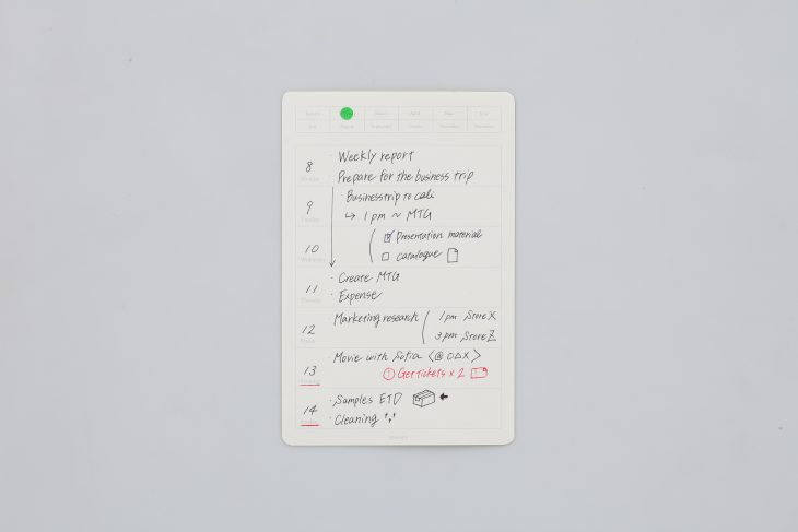 Removable Weekly Calendar