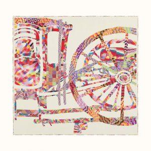 Japanese Silk Marbling - Hermes Scarf