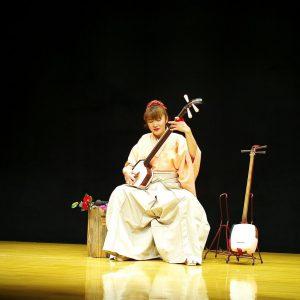 A shamisen player- japanese music