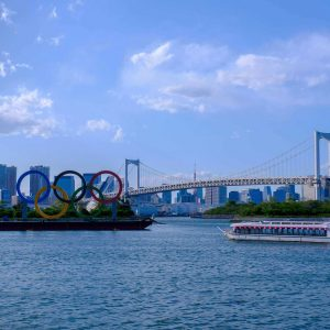 The Olympic Rings in Tokyo