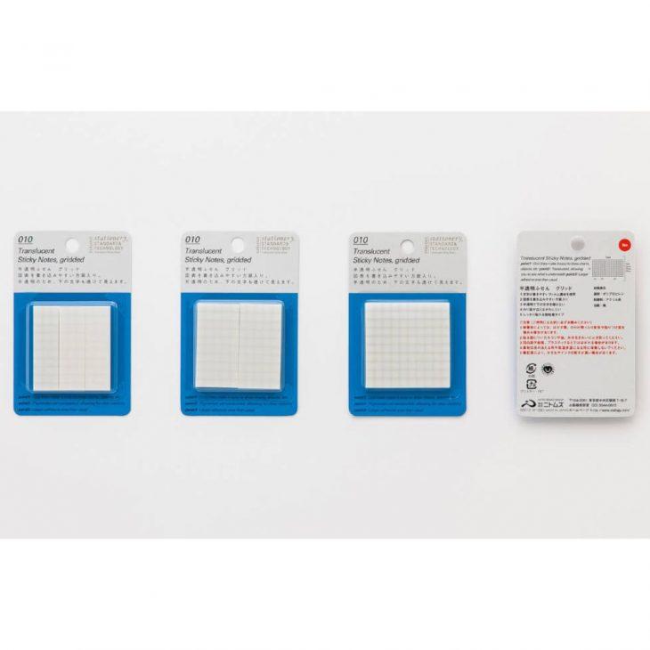 Translucent Sticky Notes Gridded